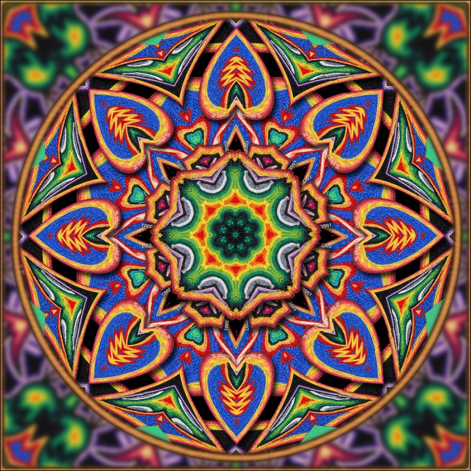 Huichol art galactic resonance for Art and craft drawing and painting